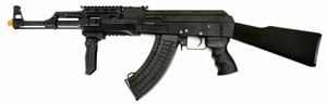 JG AK-47 RIS AEG, FULL METAL Airsoft Rifle, Black (0512T)
