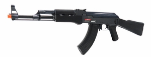 JG Black AK-47 BMG FULL METAL Electric Airsoft Rifle