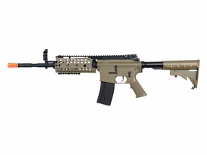 JG M4 S-System RIS AEG, Upgraded Version, Tan