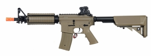JG Super Enhanced M4 CQB RIS AEG Airsoft Rifle, Dark Earth