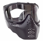 JT Airsoft Mask, Black with Clear Lens