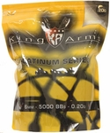 King Arms 6mm Platinum Series airsoft BBs, 0.20g, 5000 rds, Black