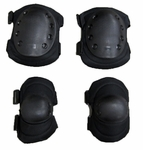 Knee and Elbow Pads for Airsoft, Black