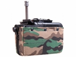 Knight's Armament Airsoft Stoner LMG 1200rd Electric Box Magazine - Woodland Camo