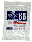 KSC Perfect 6mm Airsoft BBs, 0.25g, 3000 rds, White