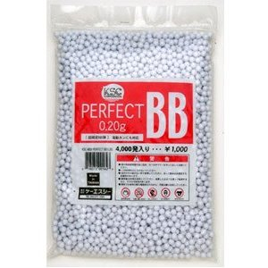 KWA/KSC Perfect 0.20g 6mm BBs, 4000 Rounds, White