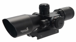 Lancer Tactical 2.5-10X Dual Color Illuminated Mil Dot Crosshair Scope w/ Red Laser