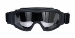Lancer Tactical Airsoft Safety Goggles, Basic, Black Frame, Clear Lens