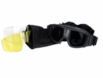 Lancer Tactical Airsoft Safety Goggles, Basic, Black Frame, Multi Lens Set