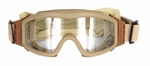 Lancer Tactical Airsoft Safety Goggles, Basic, Desert Tan Frame, Clear Lens