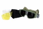 Lancer Tactical Airsoft Safety Goggles, Basic, OD Green Frame, Multi Lens Set