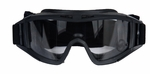 Lancer Tactical Airsoft Safety Goggles, Standard, Black Frame, Clear Lens