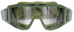 Lancer Tactical Airsoft Safety Goggles, Standard, Green Frame, Clear Lens