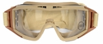Lancer Tactical Airsoft Safety Goggles, Standard, Tan Frame, Clear Lens