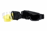 Lancer Tactical Airsoft Safety Goggles, Vented, Black Frame, Multi Lens Kit