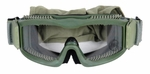 Lancer Tactical Airsoft Safety Goggles, Vented, OD Green Frame, Clear Lens