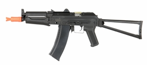 Lancer Tactical AK74U Metal Gearbox AEG, Side Folding Stock, Black