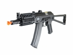 Lancer Tactical AK74U Tactical Metal Gearbox AEG with RIS, Side Folding Stock, Black