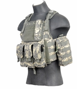Lancer Tactical Assault Plate Carrier Vest For AR, ACU