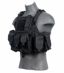 Lancer Tactical Assault Plate Carrier Vest For AR, Black