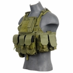 Lancer Tactical Assault Plate Carrier Vest For AR, OD Green