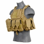 Lancer Tactical Assault Plate Carrier Vest For AR, Tan