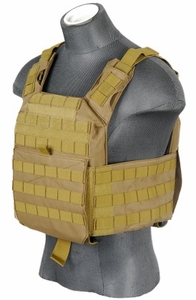 Lancer Tactical CA-313T Speed Attack Plate Carrier, Coyote Brown