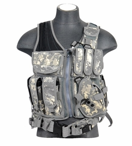 Lancer Tactical Cross Draw Tactical Vest, ACU