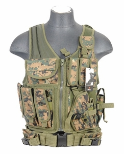 Lancer Tactical Cross Draw Tactical Vest, Digital MARPAT