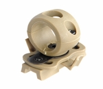 Lancer Tactical FAST Helmet 20mm Rail Flashlight Clamp, Tan