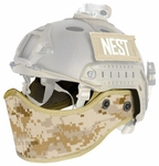 Lancer Tactical FAST Helmet Face Mask, Desert Digital