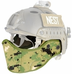 Lancer Tactical FAST Helmet Face Mask, Jungle Digital