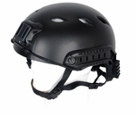 Lancer Tactical FAST NVG Helmet w/ Rails, Black