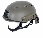 Lancer Tactical FAST NVG Helmet w/ Rails, OD Green