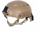 Lancer Tactical FAST NVG Helmet w/ Rails, Tan