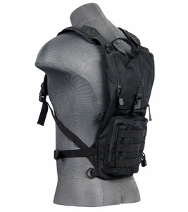 Lancer Tactical Lightweight Hydration Pack, Black