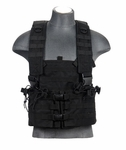 Lancer Tactical M4 Chest Rig with Hydration Carrier, Black