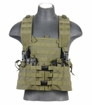 Lancer Tactical M4 Chest Rig with Hydration Carrier, OD Green