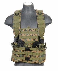 Lancer Tactical M4 Chest Rig with Hydration Carrier, Woodland Digital MARPAT