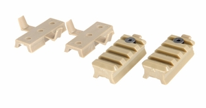 Lancer Tactical Melmet Rail Mount Kit for Railed FAST and MICH Helmets, Tan