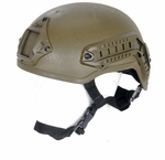 Lancer Tactical MICH 2001 NVG Helmet w/ Rails, OD Green