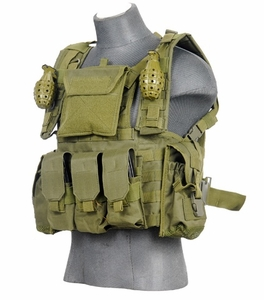 Lancer Tactical Modular Chest Rig with Pouches, OD Green