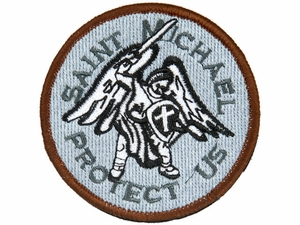 Lancer Tactical Saint Michael Protect Us Velcro Patch Type-A