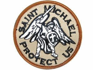 Lancer Tactical Saint Michael Protect Us Velcro Patch Type-D