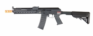 Lancer Tactical RIS AK Full Metal Tactical AEG Airsoft Gun, Black