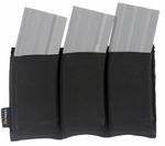 Lancer Tactical Triple M4 Magazine Pouch - Black
