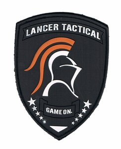 Lancer Tactical Velcro Patch, Black, Rubberized