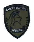 Lancer Tactical Velcro Patch, OD/Black