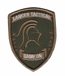 Lancer Tactical Velcro Patch, Tan/OD