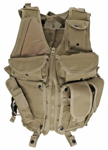 Lightweight Mesh Tactical Vest, Tan